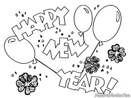 Printable Coloring Page New Year U0027s Coloring Pages Happy New L