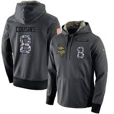Men's Hoodie Salute Vikings To Sale Player Football Anthracite Performance Service For Minnesota