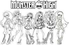 Monster High Coloring Pages For Girls Printable Downloadable