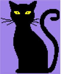 Cat Knitting Chart Black Cat C2c Crochet Knitting Tunisian Cross Stitch Graph Pattern Graphgan Chart Blanket Throw Afghan Easy Pdf