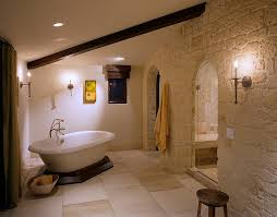 stone bathroom flooring texture. Color And Texture Of The Stone Give Bathroom A Mediterranean Vibe [Design: Gordon Flooring T