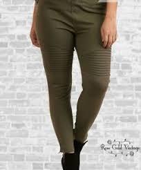 moto leggings boutique. image is loading nwt-boutique-umgee-plus-denim-moto-jeggings-olive- moto leggings boutique