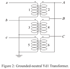 distribution transformers modeling with angular displacement Wye Wye Transformer Connection Diagrams firstly, winding voltages are presented as a function of node voltages numbers are referred to winding voltages (1, 3 and 5 for the primary side and 2, wye wye transformer wiring diagram