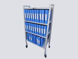 Chart Cart On Wheels Chart Rack On Wheels 30 Slot A 1 Medical Integration
