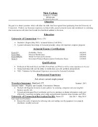 Actuary Resume Nick Carlone Actuary Resume 53