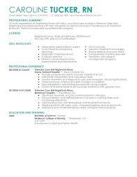 Nursing Resume Objective New Grad Nursing Resume Example Resume