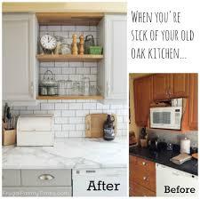 Old Kitchen Cabinet Update Old Oak Kitchen Cabinets Monsterlune
