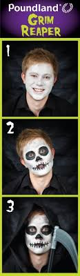 poundland grim reaper face painting step by step