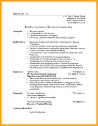 Example Of Registered Nurse Resume Impressive Cath Lab Nurse Resume Best Cardiac Cath Lab Registered Nurse