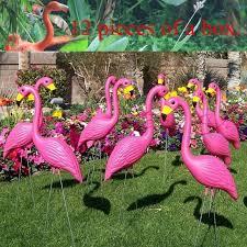 garden flamingos.  Garden 12 Pink Plastic Flamingos Garden Accessories Crafts Landscape Home Decor  Yard And Lawn Ornament Wedding Jardin With Garden Flamingos T