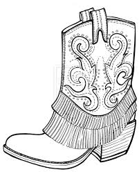 Small Picture Cowboy Boot Coloring Pages AZ For Boots At Page creativemoveme