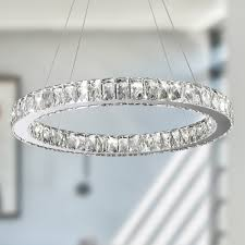 full size of living cool crystal ring chandelier 14 galaxy 15 light led chrome finish and