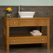 Bamboo Bathroom Sink 48 Milforde Bamboo Vessel Sink Console Vanity Bathroom