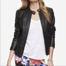 express jackets blazers express black leather jacket