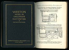 electrical engineering instructions for the use of weston model 310 singlephase wattmeters including connection diagrams 2
