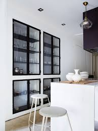 Modern Glass Kitchen Cabinets Black Frame Cabinetry Interior Design Pinterest Glasses