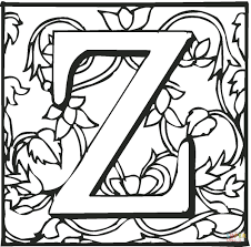 Small Picture Letter Z coloring pages Free Coloring Pages