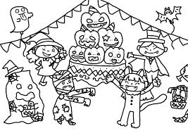 10月の無料ぬりえハロウィンいもほりどんぐり秋の味覚等保育園