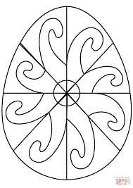 easter egg with spiral pattern coloring page easter egg with spiral pattern coloring page free printable on spiral pattern template