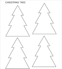 Tree Stencil Template Free Christmas Templates Printable With