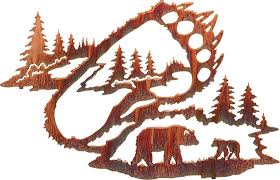 on neil rose metal wall art with bear tracks by neil rose wildlife laser cut metal wall art