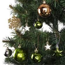 Weihnachts Baumschmuck Grüngold 32er Set
