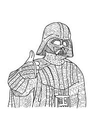 Darth Vader Star Wars Coloring Page Adult Coloring By Paperbro
