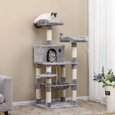 Cat Tree Designs Free Feandrea 58 Multi Level Cat Tree With Sisal Covered Scratching Posts 75 90 Free Shipping