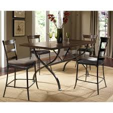 Metal And Wood Kitchen Table Hillsdale Cameron 5 Piece Counter Height Rectangle Wood Dining