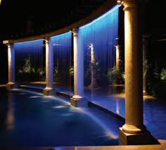 pool waterfall lighting. wonderful lighting internal waterfall for pool waterfall lighting w