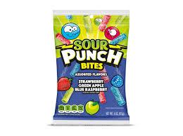 <b>Blue</b> Raspberry : Sour Punch® <b>Bites</b>®, Assorted Flavors <b>Bite</b> Size ...