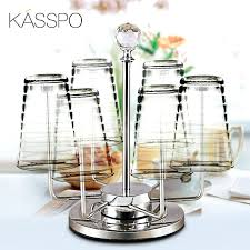 glass holder rack stainless steel glass cup holder creative glass rack upside down style 6 head