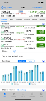 Quotes Charts Trade History Settings App Stocks Tracker Real Time Stock On The App Store