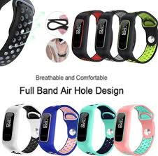 Soft Silicone <b>Two</b>-<b>Color</b> Watch Band <b>Wrist</b> Strap Bracelet ...