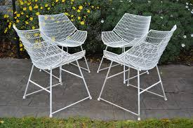 Designer Patio Table 1950s Breotex Wire Outdoor Designer Furniture 4 Vintage Outdoor Chairs Patio Chairs