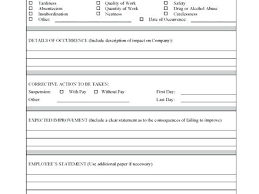 Employee Disciplinary Write Up Disciplinary Write Up Form Template Employee Action Free