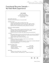 Resume Sample For Someone With No Work Experience Refrence Perfect