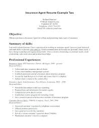 Sales Resume Objective New Insurance Broker Resume Objective