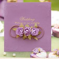 Design And Print Invitations Online Free Rose Wedding Invitation Card Design Free Customized Printing Wedding Party Decoration Wedding Invitations Party Event Accessory
