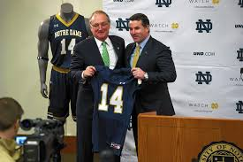 under armour notre dame. under armour ceo kevin plank (right) announces the deal with university of notre dame
