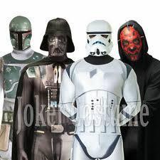 Captivating Morphsuit Star Wars Darth Vader Maul Stormtrooper Boba Fett Fancy Dress  Costume