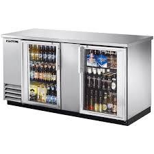 stainless steel glass door back bar cooler model tbb 3g s