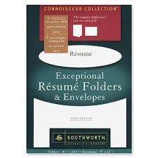 ... Valuable Resume Folders 3 Southworth Exceptional Resume Folder With  Envelope ...