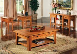 ... Coffee Tables, Extraordinary Brown Rectangle And Square Wood Rustic  Coffee And End Tables With Storage ...