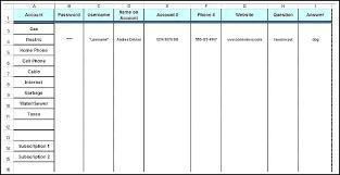 passwords template excel password template excel spreadsheet template for passwords