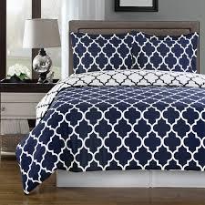 com duvet cover set double full queen navy blue white 100 egyptian cotton print geometric pattern luxury modern reversible bedding and shams home