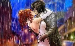 Kissing Couple Rain Wallpapers on ...