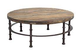 round coffee table made of reclaimed