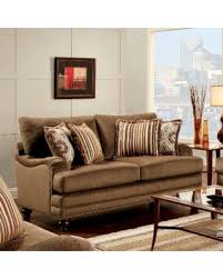 Furniture Of America Armande Transitional Style Brown Loveseat Transitional Furniture Style55