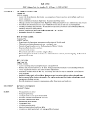 Resume Title Title Clerk Resume Samples Velvet Jobs 2